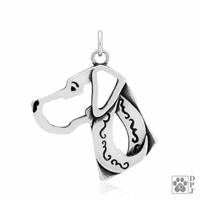 Great Dane Natural Ears Charm