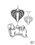Sterling Silver Havanese Pendant, Body w/Healing Angels -- new