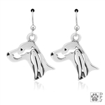 Sterling Silver Irish Setter Earrings, Handcrafted Irish Setter Earrings