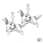 Sterling Silver Irish Setter Earrings, Irish Setter Jewelry Gifts, Irish Setter Lovers