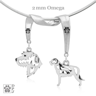 Fine Irish Wolfhound Jewelry Gifts, Sterling Silver Irish Wolfhound Pendant Necklace, Grand Champion Irish Wolfhound, Best in Show Irish Wolfhound