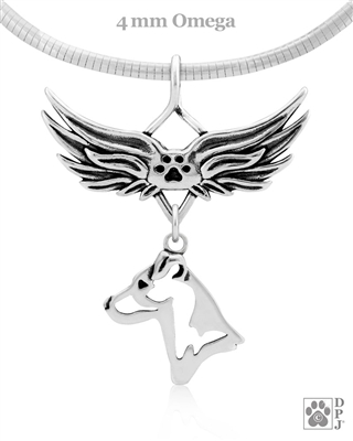 Sterling Silver Parson Russell Terrier Angel Memorial Jewelry, Parson Russell Terrier Rainbow Bridge Gifts