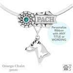 Sterling Silver Best In Show Parson Russell Terrier Necklace, Personalized Best In Show Parson Russell Terrier Pendant
