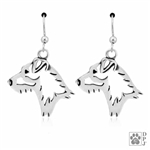 Parson Russell Terrier Broken Coat Earrings