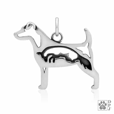 Jack Russell Terrier with Fox Pendant