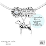 Best In Show Parson Russell Terrier Jewelry, Sterling Silver Personalized Best In Show Parson Russell Terrier Necklace
