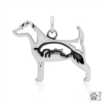 Parson Russell Terrier with Fox Pendant