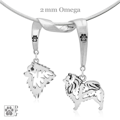 Keeshond Necklace, Keeshond Jewelry