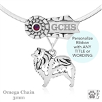 Personalized Best In Show Keeshond Jewelry, Best In Show Keeshond Pendant Necklace, Grand Champion Keeshond