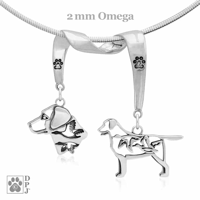 Sterling Silver Labrador Retriever Necklace