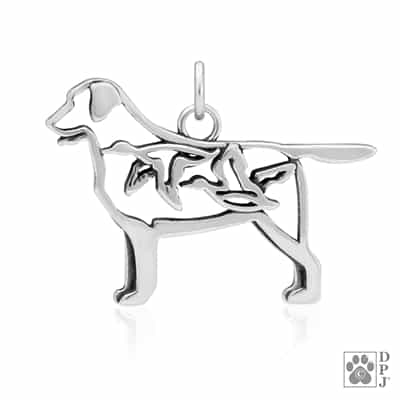 Sterling Silver Labrador Retriever Pendant Necklace, Labrador Jewelry Gifts, Labrador Charm, Lab Lovers