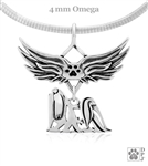 Sterling Silver Maltese Angel Wing Pendant Necklace, Maltese Breed Memorial Jewelry, Maltese Sympathy Gifts