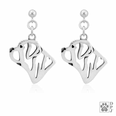 Mastiff Earrings, Mastiff Earring