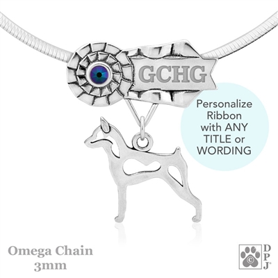 Best In Show Miniature Pinscher Jewelry, Best In Show Miniature Pinscher Pendant, Best In Show Miniature Pinscher Necklace
