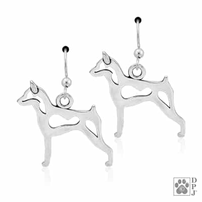 Miniature Pinscher Earring, Min Pin Earring