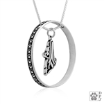 Sterling Silver Papillon Pendant, Head, w/Colossal Blinger -- new