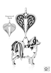 Sterling Silver Papillon Pendant, w/Butterfly in ear Body, w/Healing Angels -- new