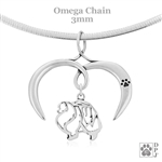 I Love My Pomeranian Necklace, Sterling Silver Pomeranian necklace