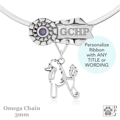 Best In Show Poodle Jewelry, Best In Show Poodle Pendant, Best In Show Poodle Necklace
