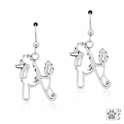Poodle Earrings, Poodle Gifts