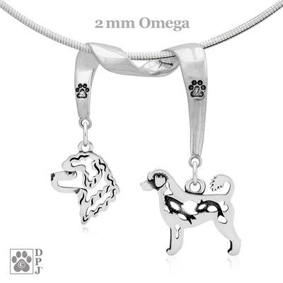Portuguese Water Dog Necklace, Portuguese Water Dog Jewelry