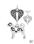 Sterling Silver Portuguese Water Dog Pendant, Retriever Cut, Body w/Healing Angels -- new
