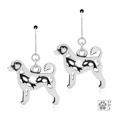 Portuguese Water Dog Earrings, PWD earrings
