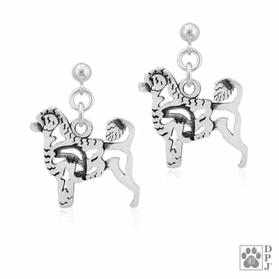 Portuguese Water Dog Earrings, Portuguese Water Dog Earring,