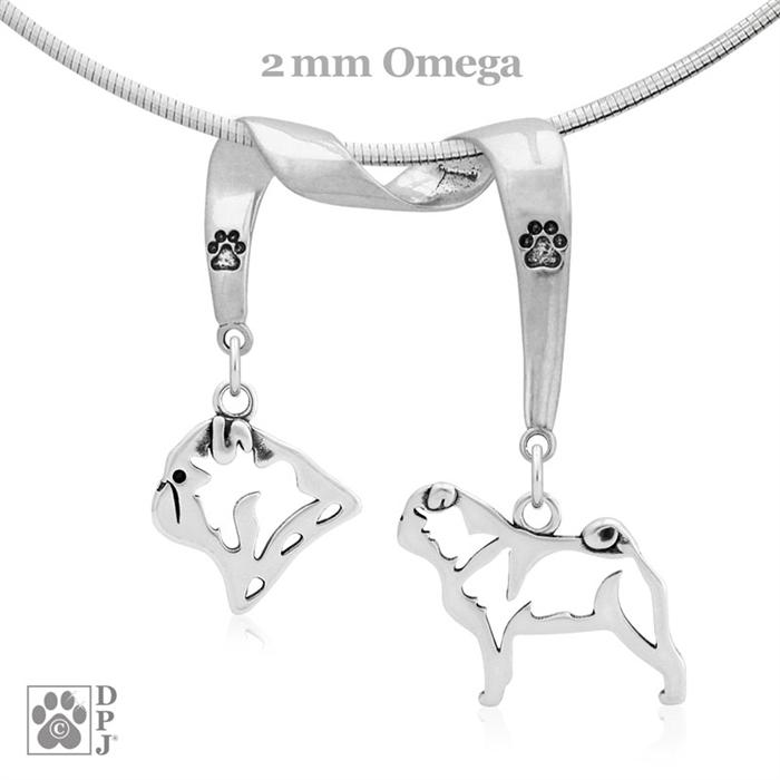 Fine Pug Necklace Fine Pug Jewelry High End Pug Jewelry Fine Pug