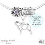 Best In Show Pug Jewelry, Best In Show Pug Pendant, Best In Show Pug Necklace
