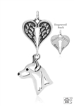 Personalized Sterling Silver Rat Terrier Angel Necklace, Head