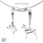 Rat Terrier Necklace, Rat Terrier Jewelry