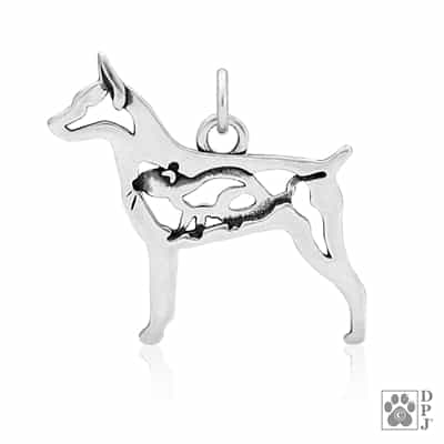 Rat Terrier Docked Tail Pendant