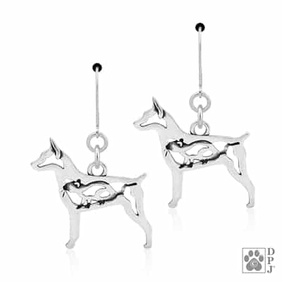 Rat Terrier Docked Tail Earrings