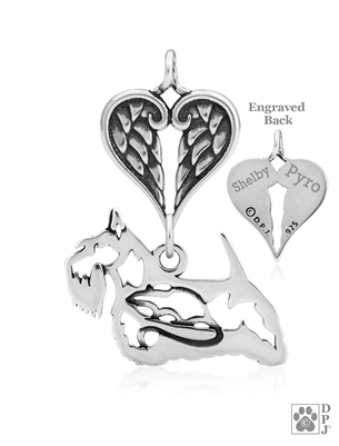 Scottish Terrier Memorial Jewelry, Scottish Terrier Memorial Charm, Scottish Terrier Memorial Gifts, Dog Sympathy Gifts, Dog Memorial Jewelry, Pet Loss Jewelry