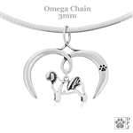 I Love My Shih Tzu Necklace, Sterling Silver Shih Tzu necklace