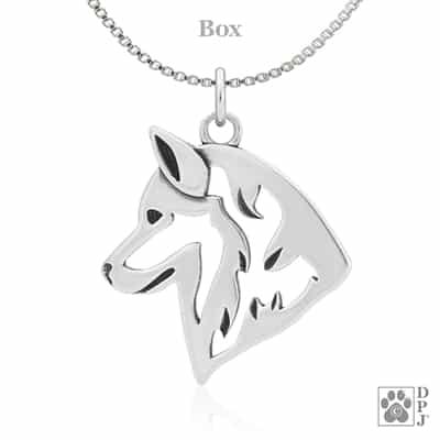 Alaskan husky jewelry Alaskan husky charm