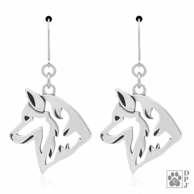 Siberian Husky Earrings, Husky Earrings