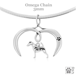 I Love My Smooth Fox Terrier Necklace, Sterling Silver Smooth Fox Terrier necklace