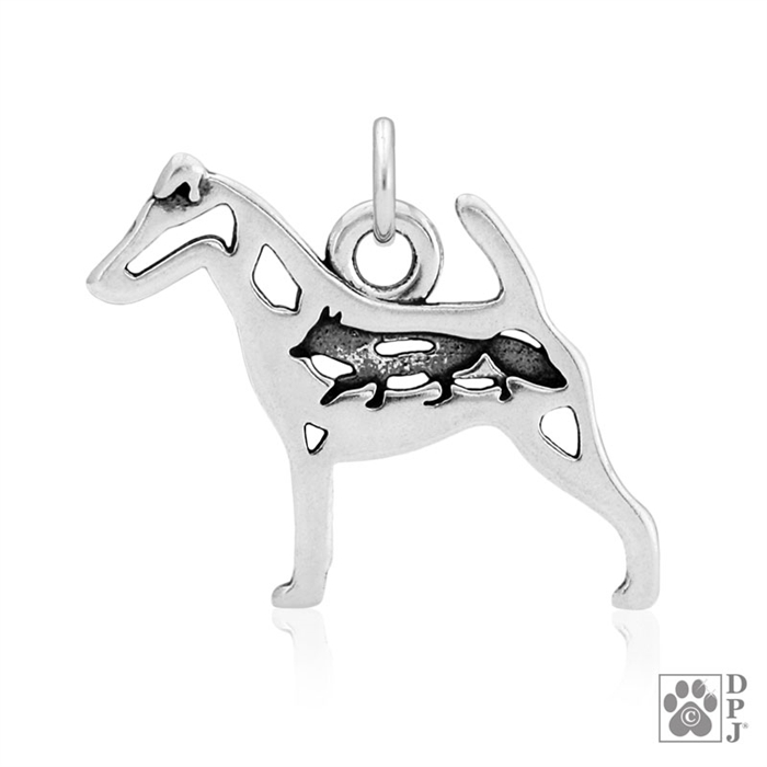 Saint Bernard Dog Pendant Necklace Silver ANIMAL RESCUE DONATION