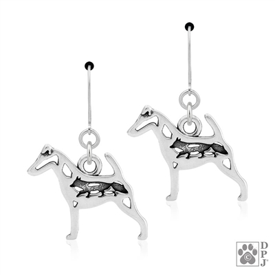Smooth Fox Terrier Earrings, Smooth Fox Terrier Earring