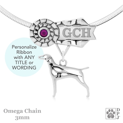 Best In Show Vizsla Jewelry, Best In Show Vizsla Pendant, Best In Show Vizsla Necklace