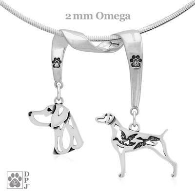 Weimaraner Necklace, Weimaraner Jewelry