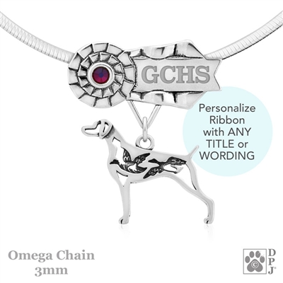 Best In Show Weimaraner Jewelry, Best In Show Weimaraner Pendant, Best In Show Weimaraner Necklace