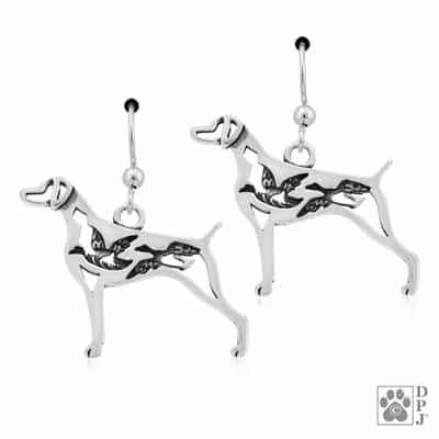 Weimaraner Earrings, Weimaraner Jewelry