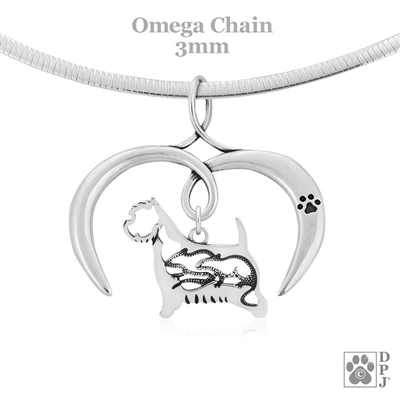 I Love My West Highland White Terrier Necklace, Sterling Silver West Highland White Terrier necklace