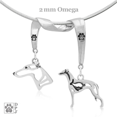 Whippet Necklace, Whippet Jewelry