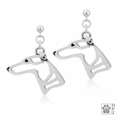 Whippet Earrings, Whippet Jewelry
