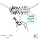 Best In Show Whippet Jewelry, Best In Show Whippet Pendant, Best In Show Whippet Necklace