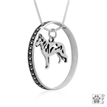 Sterling Silver White Shepherd Pendant, Body, w/Colossal Blinger -- new